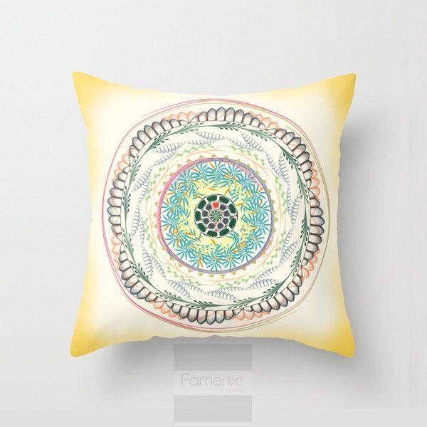 Nature Mandala Throw Pillow Case-Pillows-famenxt