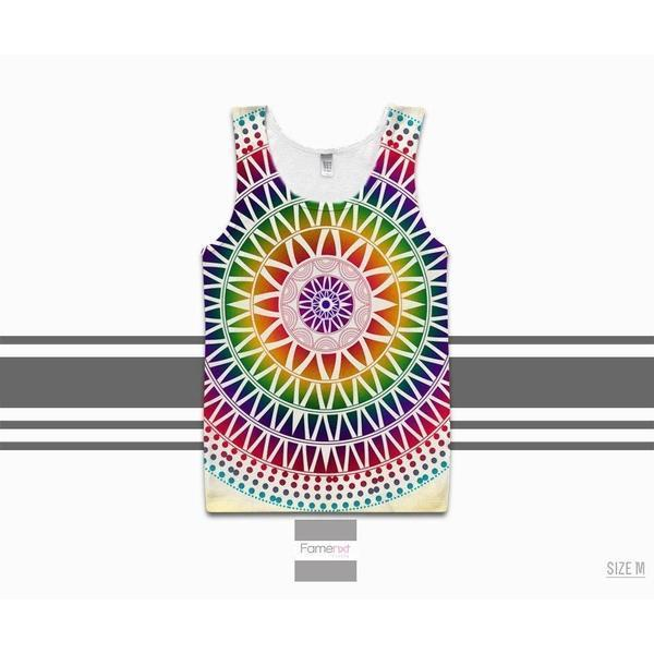Colorful Boho Tank Top Abstract for Men and Women. Unisex-Tank top-famenxt