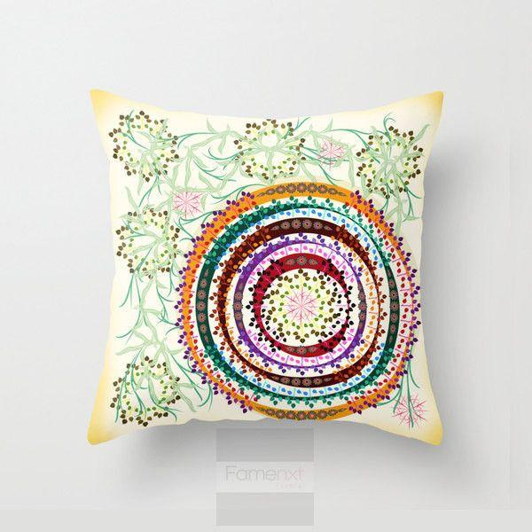 Dense Jungle Mandala Throw Pillow Case-Pillows-famenxt
