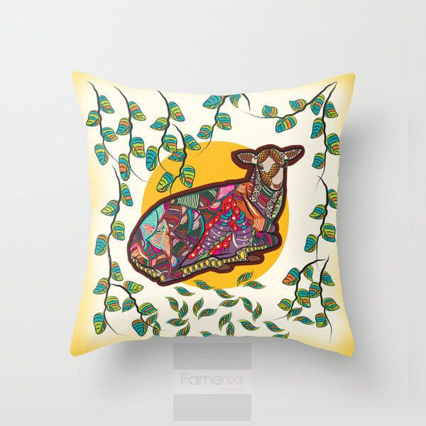 Whimsical Deer Throw Pillow Case-Pillows-famenxt