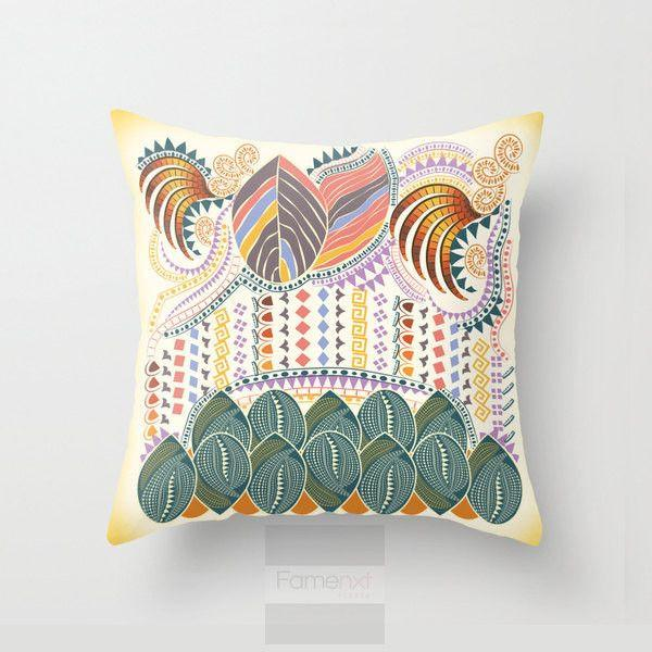 Decorative Indian Pattern Throw Pillow Case-Pillows-famenxt