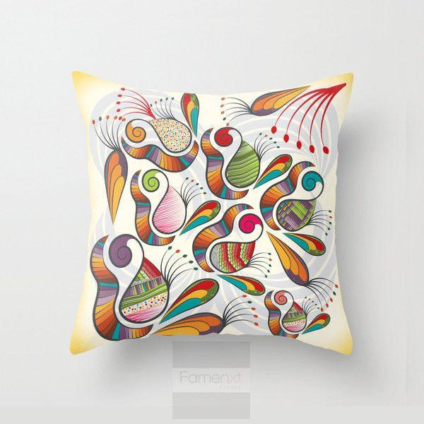 Decorative Paisley Throw Pillow Case-Pillows-famenxt
