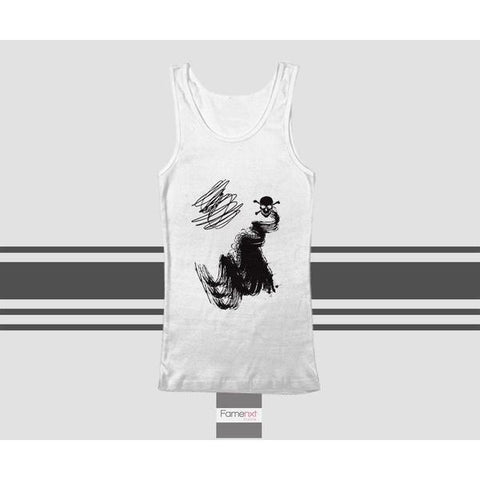 Unisex Hippie Skull Graphic Tank Top. Men and Women-Tank top-famenxt