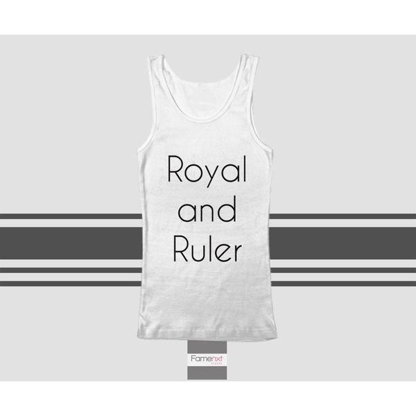 Royal and Ruler Typography Quote Tank Top. Men and Women. Unisex-Tank top-famenxt