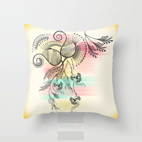 Decorative Colorful Paisley Throw Pillow Case-Pillows-famenxt
