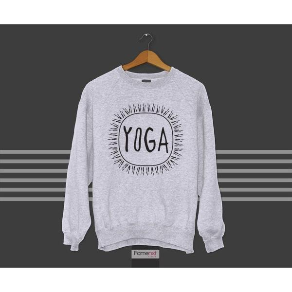 Crewneck Sweatshirt Motivational Workout Yoga Typographic Quote Graphic Unisex Jumper-Hoody-famenxt