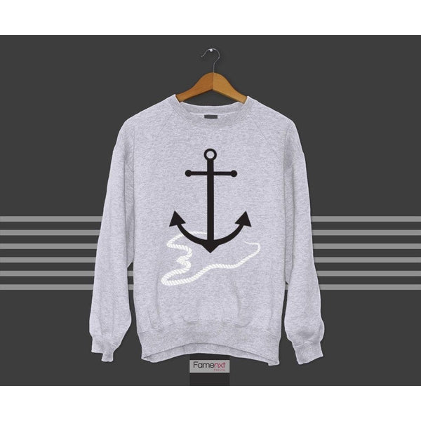FLAT 20% OFF + Free Shipping! Sweatshirt Beach Anchor Graphic Jumper-Sweatshirt-famenxt