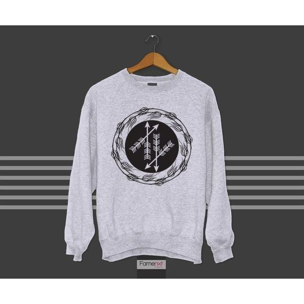 Bohemian Cute Arrows Graphic Sweatshirt Jumper-Sweatshirt-famenxt