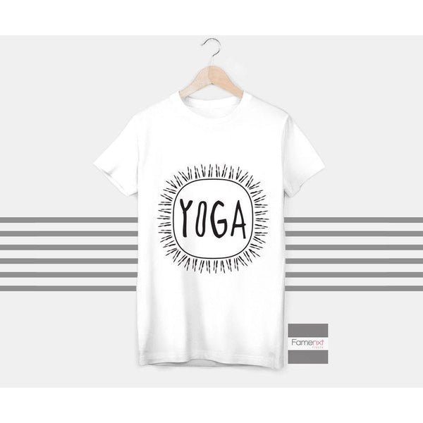 T shirt Motivational Workout Yoga Typographic Quote T shirt for Men and Women-T shirt-famenxt