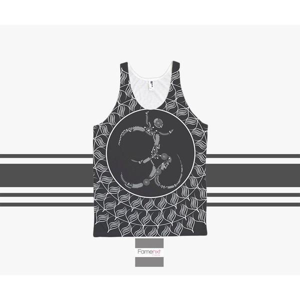 Om Tank top Spiritual yoga Top pattern for Men and Women. Unisex-Tank top-famenxt