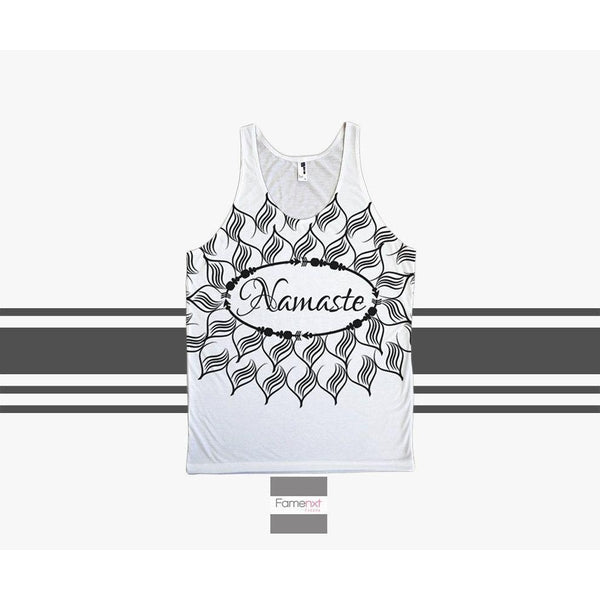 Namaste Tank Top Spiritual Yoga Om Top pattern for Men and Women. Unisex-Tank top-famenxt