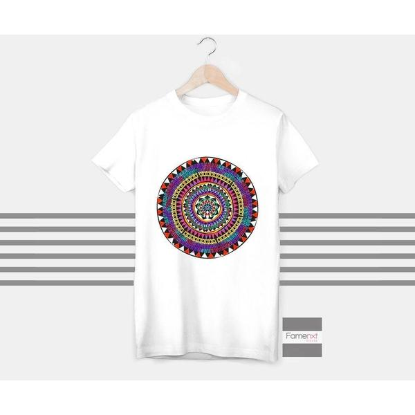 T shirt Mandala spiritual yoga t shirt, Buddha, Om top - Ohm, Aum, T shirt for Men and Women-T shirt-famenxt