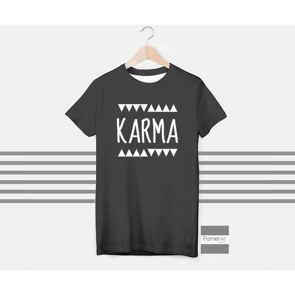 Karma Spiritual Motivational T shirt for Men and Women-T shirt-famenxt