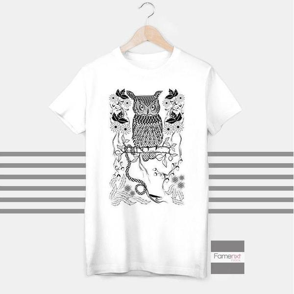 Owl T shirt Boho T shirt for Men and Women-T shirt-famenxt