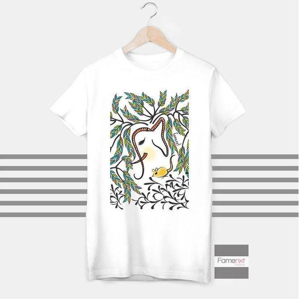 Elephant colorful T shirt Boho T shirt for Men and Women-T shirt-famenxt