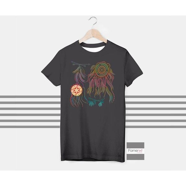 Dream Catcher T shirt Boho Bohemian T shirt for Men and Women-T shirt-famenxt
