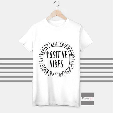 T shirt Motivational Positive Vibes Quote T shirt for Men and Women-T shirt-famenxt