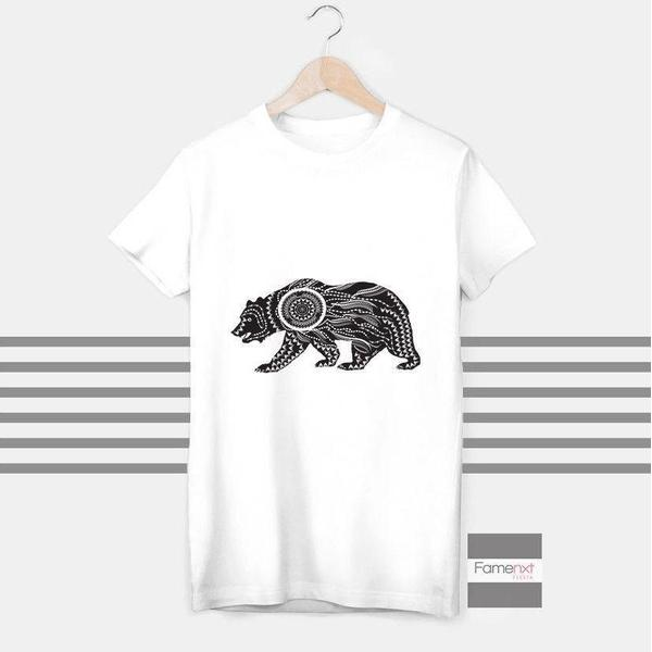 Bear Dream Catcher T shirt Boho T shirt for Men and Women-T shirt-famenxt