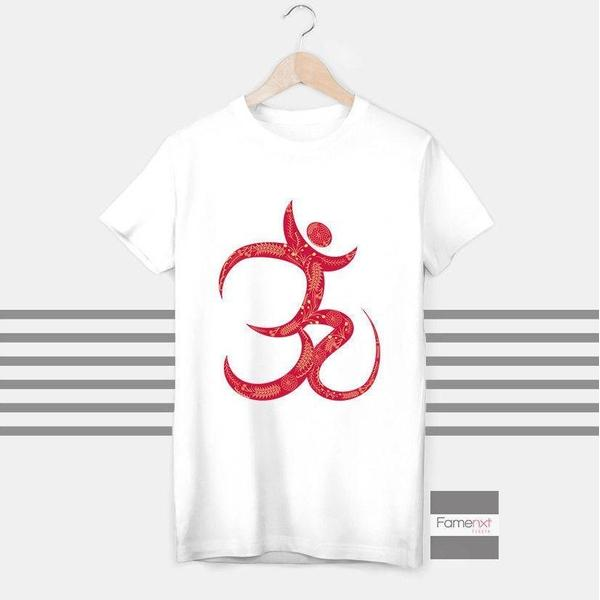 OM Yoga T shirt for Men and Women-T shirt-famenxt