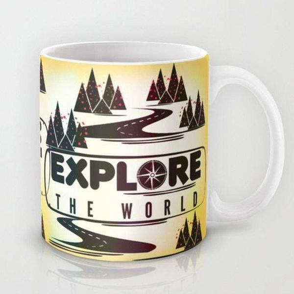 Mug, Explore the World Coffee Mug, ceramic mug-Mug-famenxt