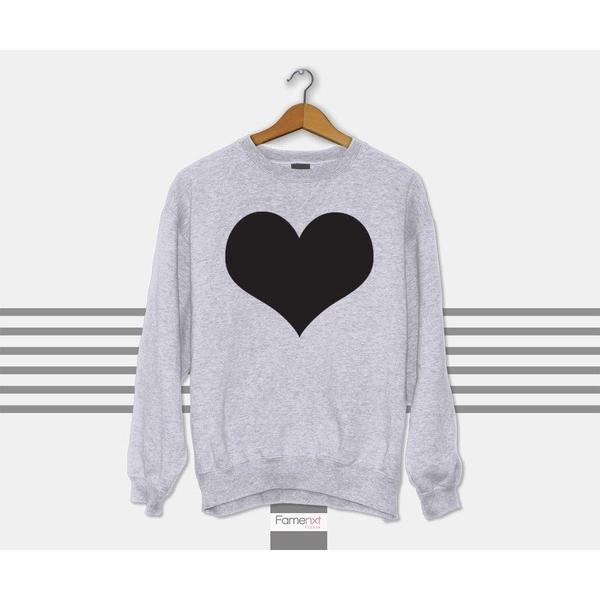 Heart Graphic Sweatshirt Jumper for Men and Women.-Sweatshirt-famenxt