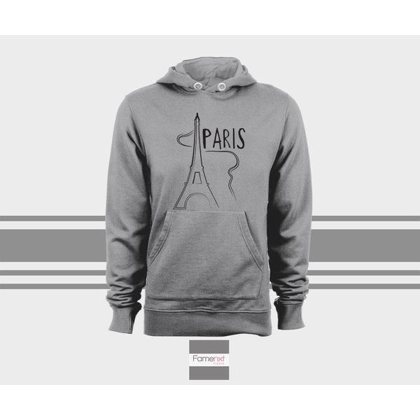 Paris Hoodie, Unisex Pull over hoodies for men and women-Hoody-famenxt