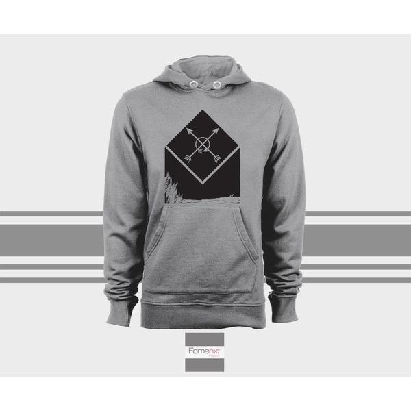 Boho arrow Hoodie, Bohemian Unisex Pull over hoodies for men and women-Hoody-famenxt