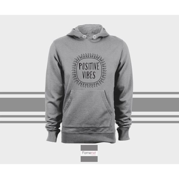 Positive Vibes Hoodie, Motivational Unisex Pull over hoodies for men and women-Hoody-famenxt