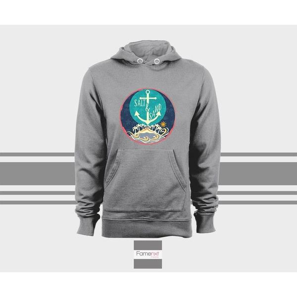 Beach Hoodie, Anchor Island Sand Salt, Unisex Pull over hoodies for men and women-Hoody-famenxt