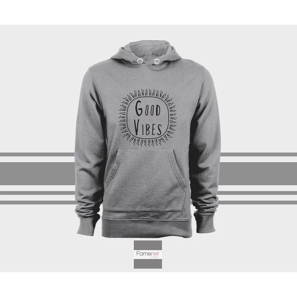 Good Vibes Hoodie, Motivational Unisex Pull over hoodies for men and women-Hoody-famenxt