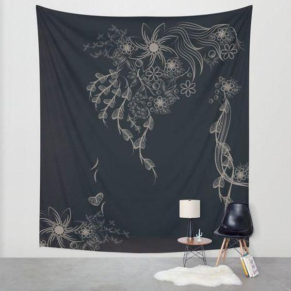 Floral Wall Tapestry-Wall Tapestry-famenxt