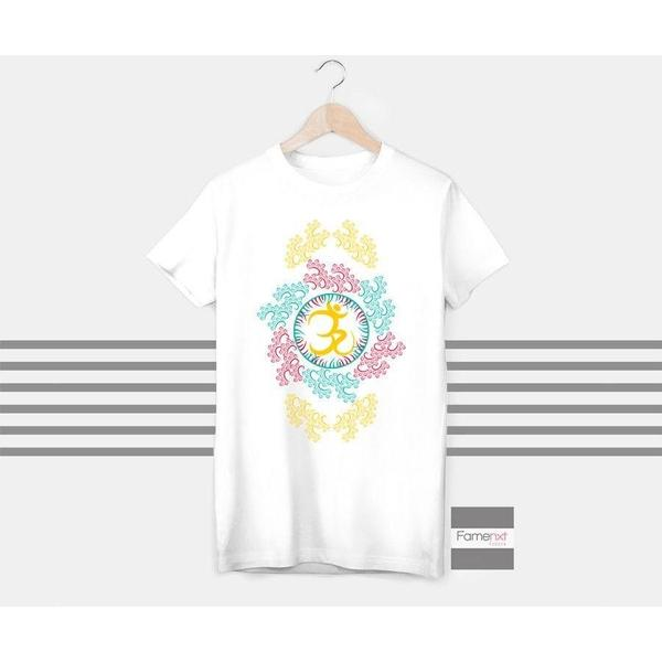 OM T shirt, good vibes t shirt, spiritual t shirt, buddha t shirt, positive vibes, workout tshirt for Men and Women-T shirt-famenxt