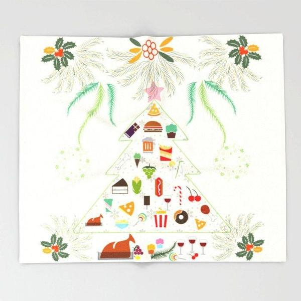 Christmas Feast Throw blanket-Throw Blanket-famenxt