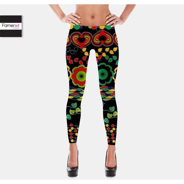 Floral leggings-Leggings-famenxt