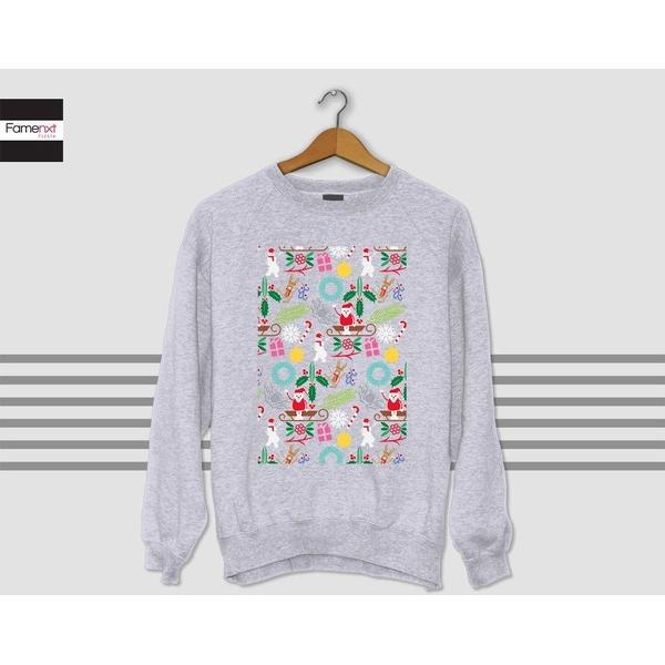 Christmas Sweater Ugly Christmas sweater Sweatshirt christmas patterns Jumper-Sweatshirt-famenxt