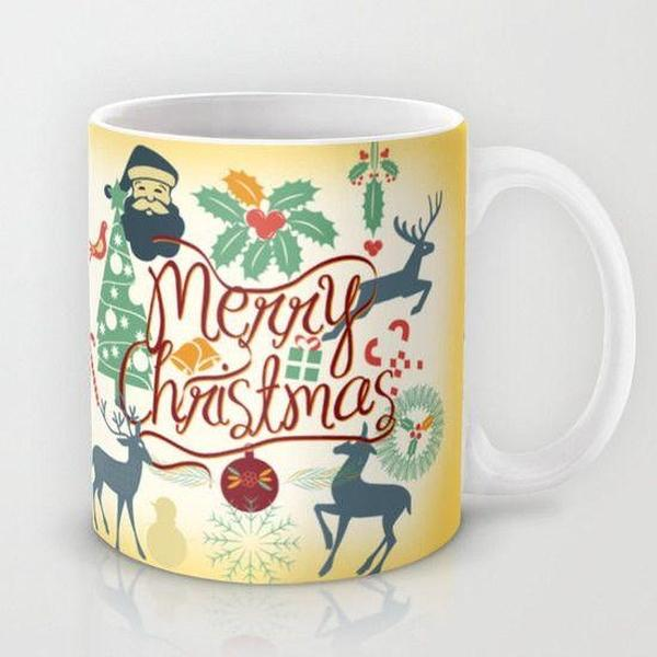 Unique Mug, Decorative Christmas mug, funny mug, cute mug, ceramic Mug, coffee mug-Mug-famenxt