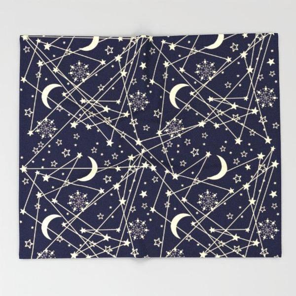 Blue Space Throw blanket-Throw Blanket-famenxt