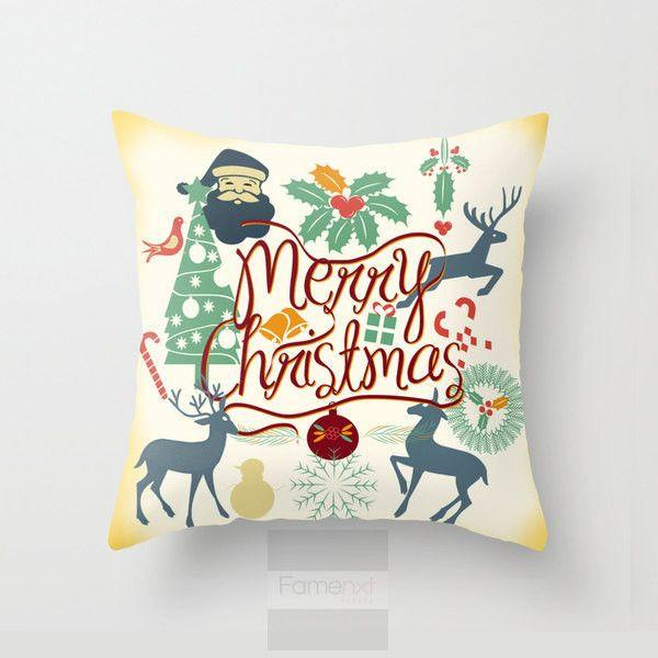 Christmas fun Throw Pillow Case-Pillows-famenxt