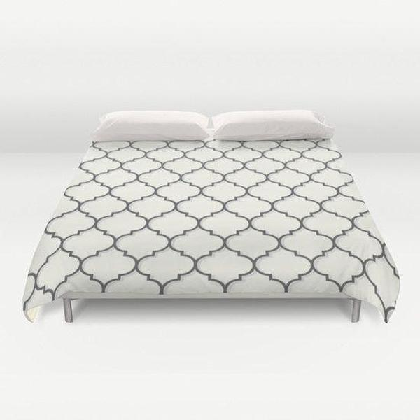 Geometric Patterned Duvet Cover-Duvet Cover-famenxt