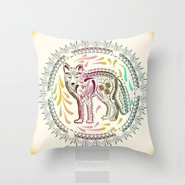 Decorative Fox Throw Pillow Case-Pillows-famenxt