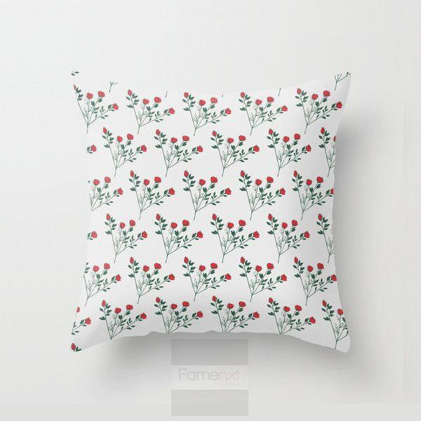Rose Throw Pillow Case-Pillows-famenxt