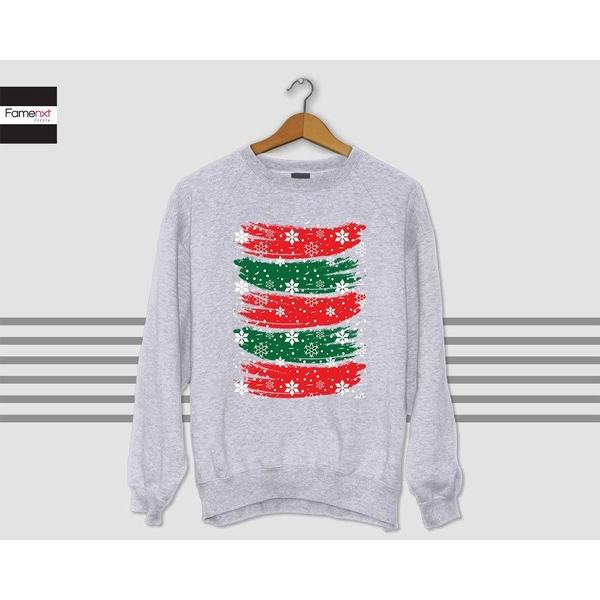 Christmas Sweater Ugly Christmas sweater red and green sweater Sweatshirt Winter is Cunning Jumper-Sweatshirt-famenxt