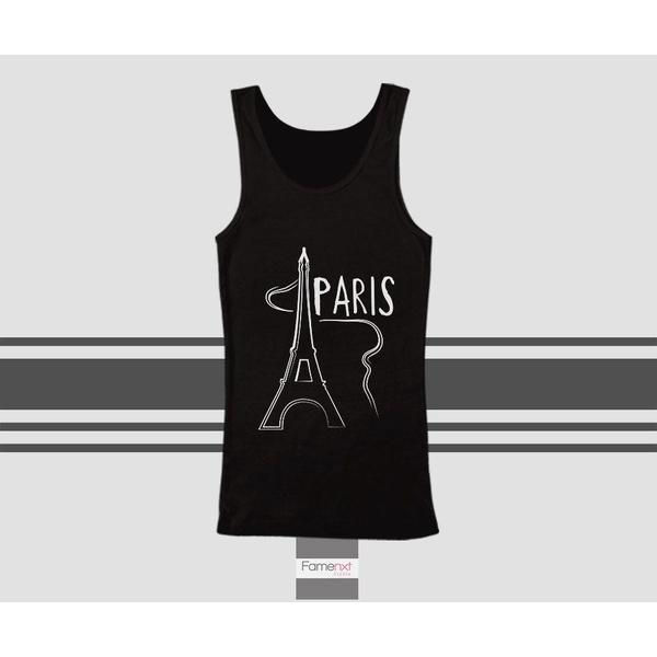 Paris Tank Top Eiffel Tower Paris Top. Men and Women. Unisex-Tank top-famenxt