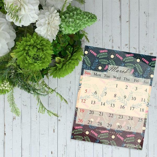 Monthly Calendar Printable, instant download, March-Calendar Digital Download-famenxt