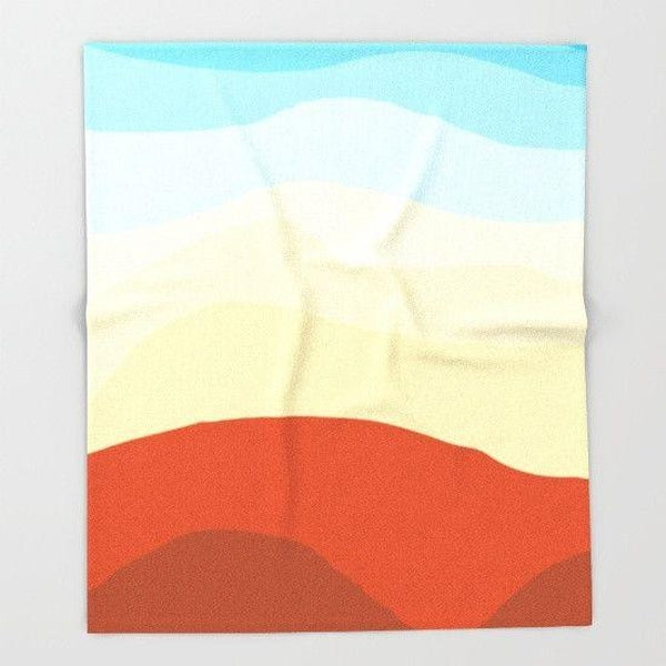 Sky and mountains Throw Blanket-Throw Blanket-famenxt