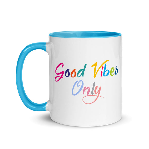 Good Vibes Only Mug with Color Inside-famenxt