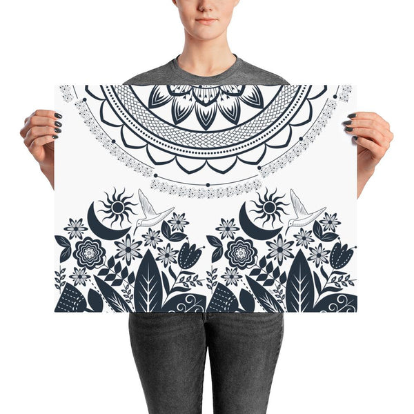 Half Mandala and Secret Garden from my15bohemianart Collection Poster-famenxt