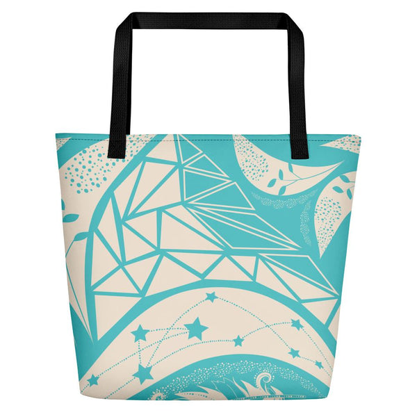 Oceanic Blue Bohemian Beach Bag-famenxt