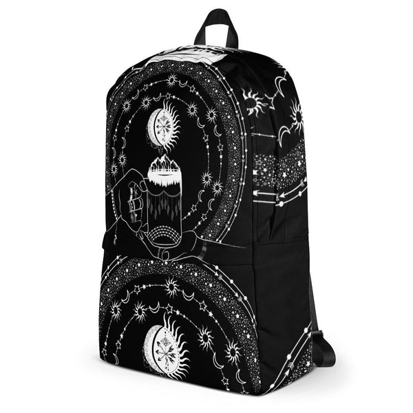 My Bohemian World from my15bohemianart Collection Black Backpack-famenxt