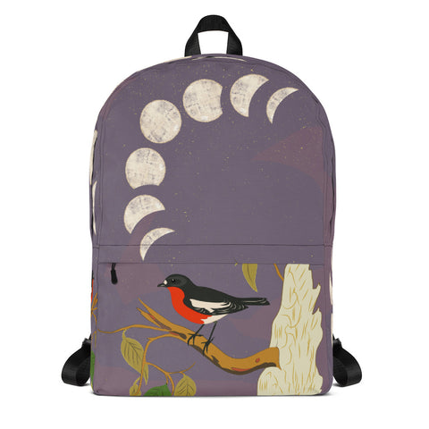 From mybirdparadise Collection Robin and Lunar Backpack-famenxt